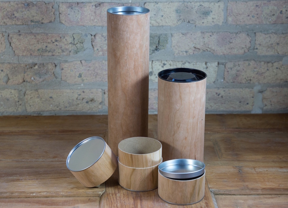 Cherry Wood Metal Top Canisters