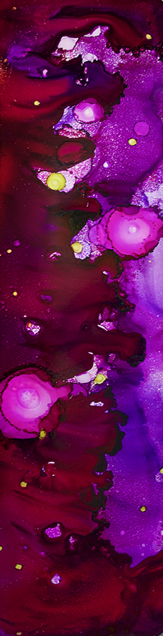 Distillation Series: Violet-Plum Jam 12x48 #042216ia