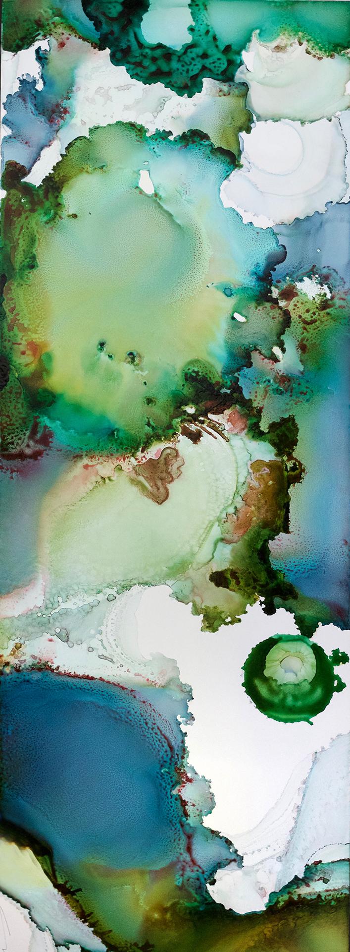 Habitat Series: Freshwater-Lichen 16x48 #100216ia