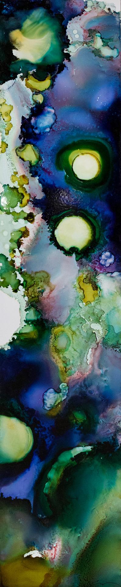 Habitat Series: Freshwater-Lichen 18x80 #110216ia