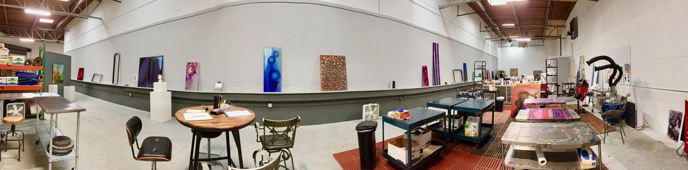 No excuses to get work done, I have two painting areas and a sculpture area.