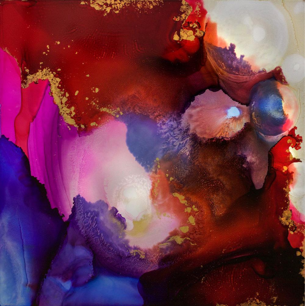 """#030617ia """"Nebula Geode"""" 32x32"""
