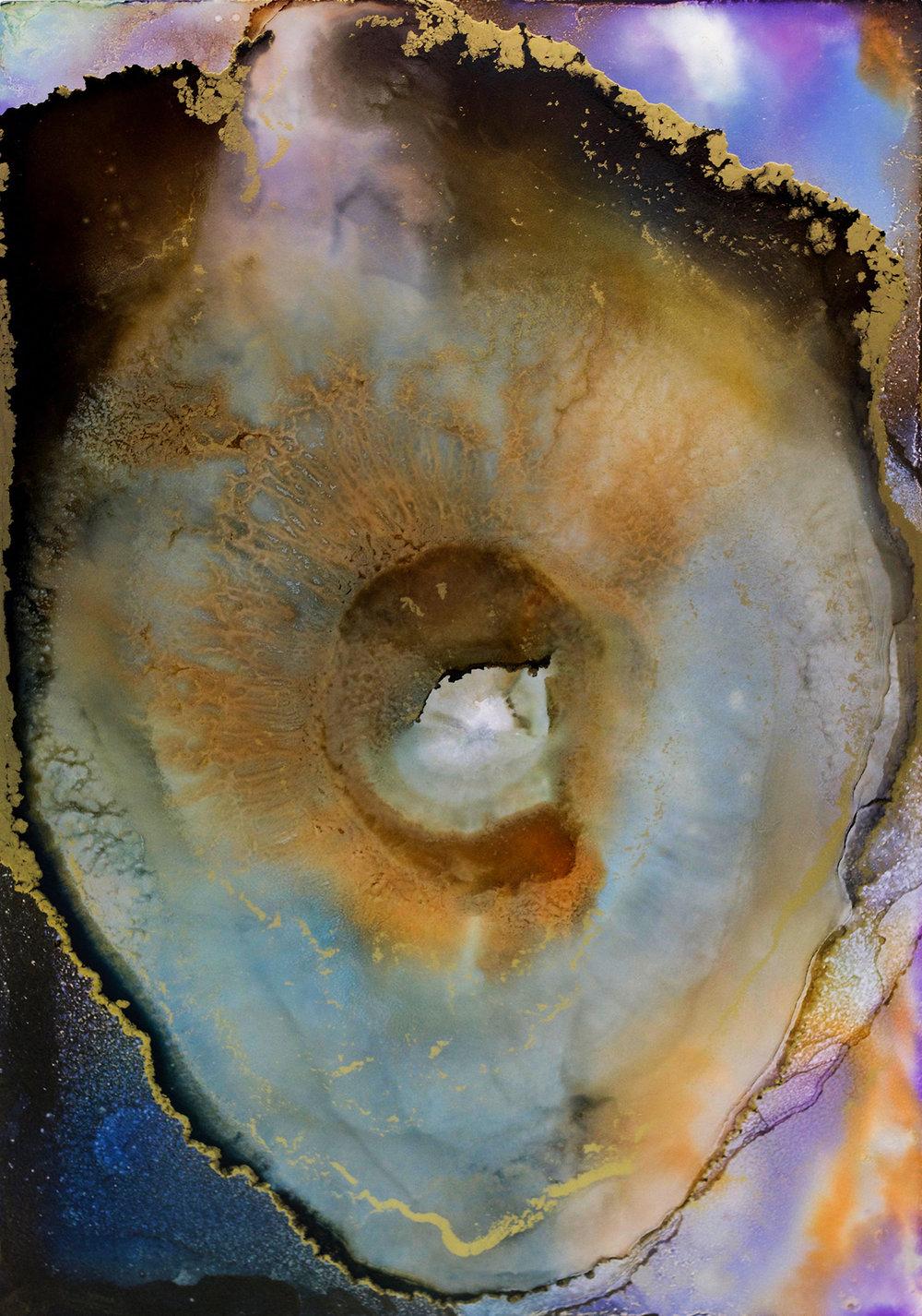 """#030117ia """"Nebula-Geode"""" 24x36"""
