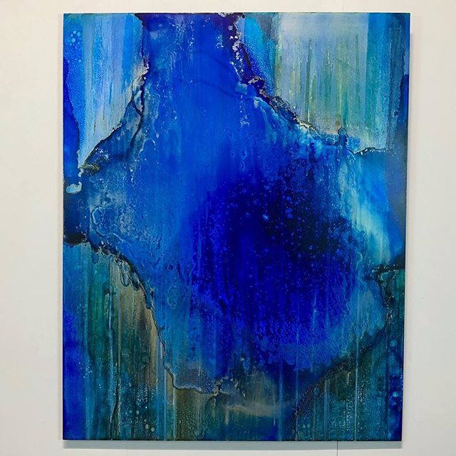 """Blue Mirage"" 48x60 Stunningly enveloping!"