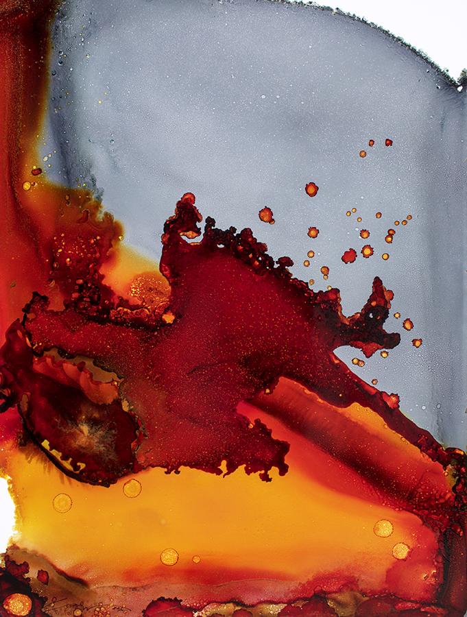 """#042316ia """"Tangerine Gray"""" 36x48"""