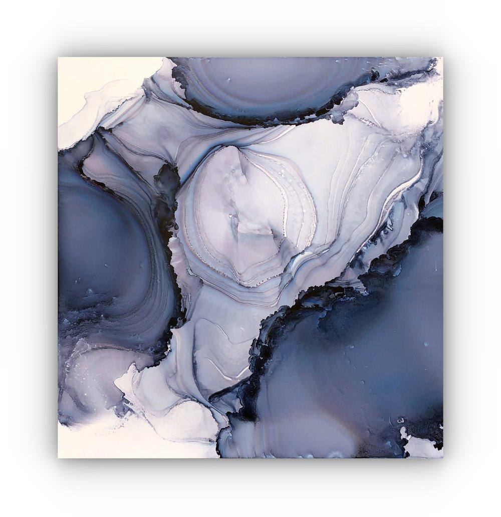 #020319cw  Blue Geode  24x24