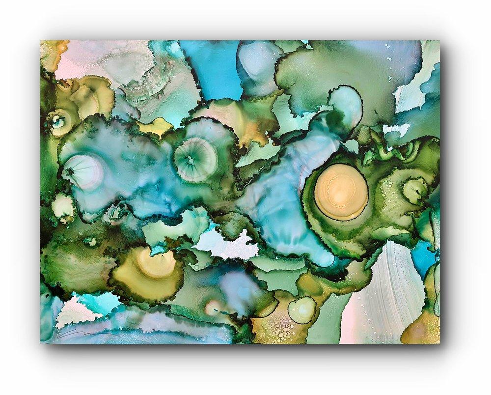 """#080218ia  """"Monet's Lily Pond""""  48x36"""