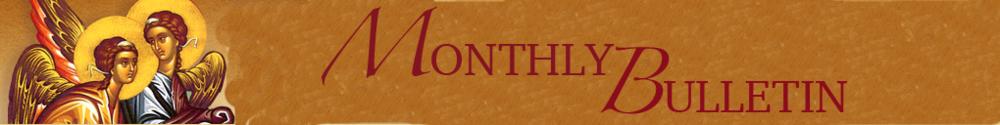 Holy Trinity Greek Orthodox Church of Greater Orlando, Mothly Bulletin