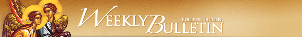 Holy Trinity Greek Orthodox Church of Greater Orlando, Weekly Bulletin