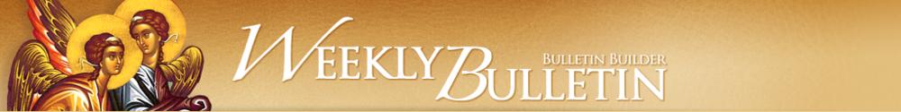 Holy Trinity Greek Orthodox Church of Greater Orlando, Weekly Bulletin