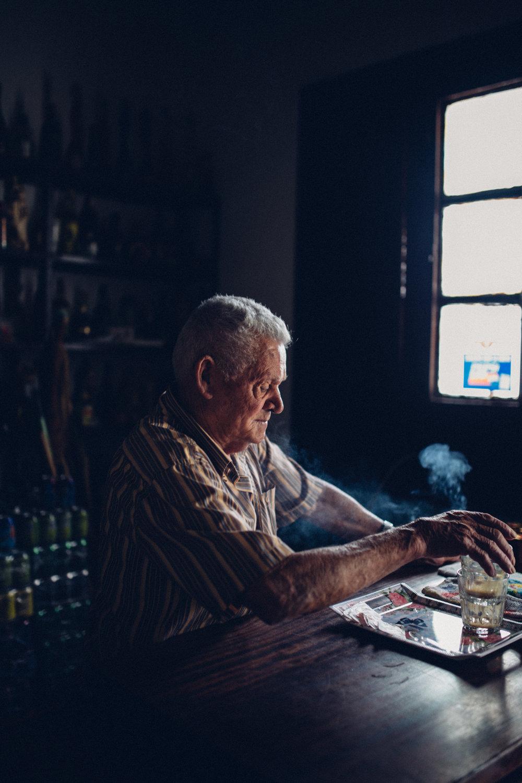 José Cañón, en su venta de Afur (2017)