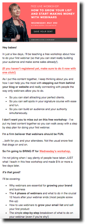 Webinar E-mail Screenshot