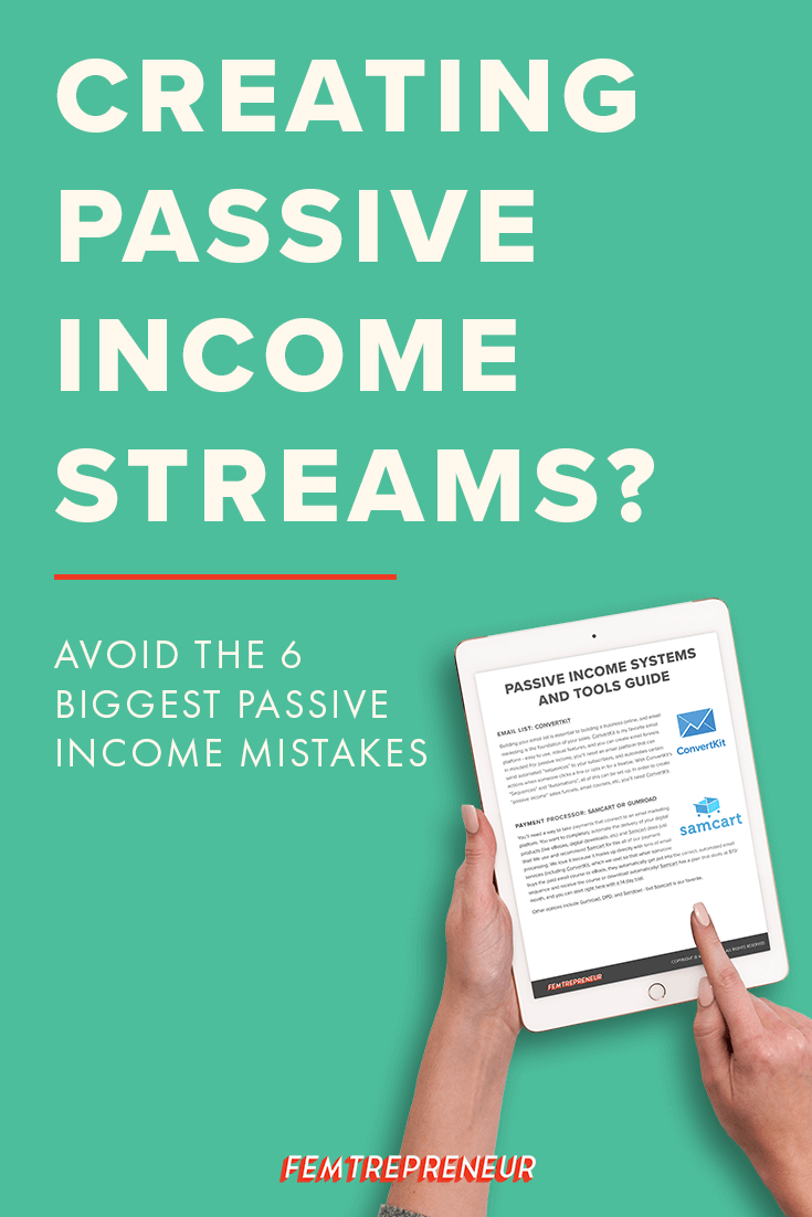 Building up your passive income streams is great for your business, and we're going to talk through the biggest mistakes that you want to avoid so you can set yourself up for success. You might be surprised about what passive income really is! Listen now! | The Femtrepreneur Show 047 http://thefemshow.com/47