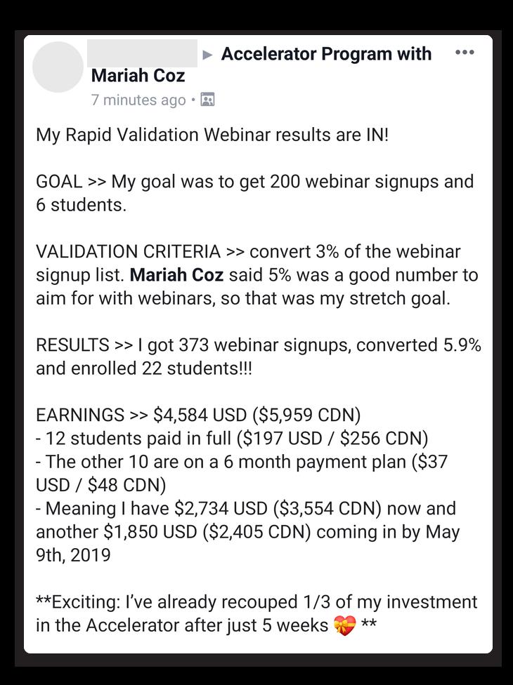 Rapid Validation Webinar Results