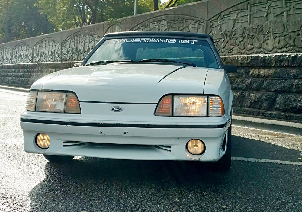 1 1987 Ford Mustang GT, 5.0, Paxton Supercharger, Automatic, convertible top motor doesn't work but it manually folds down. Runs and drives great! No reserve. Sorry, my phone doesn't allow me to send all the pictures at once..jpg