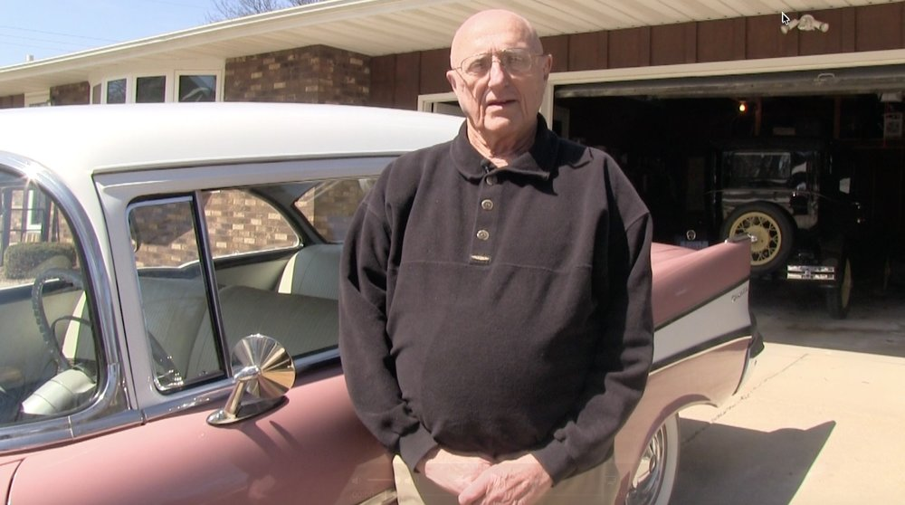 David pictured here with his 1957 Chevrolet 210.