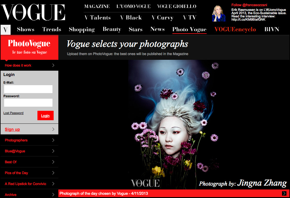 Picture of the Day,  Photo Vogue, Vogue Italia,  11 April 2013
