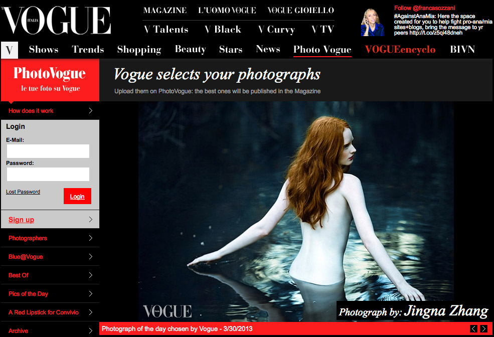 Picture of the Day,  Photo Vogue, Vogue Italia,  30 March 2013
