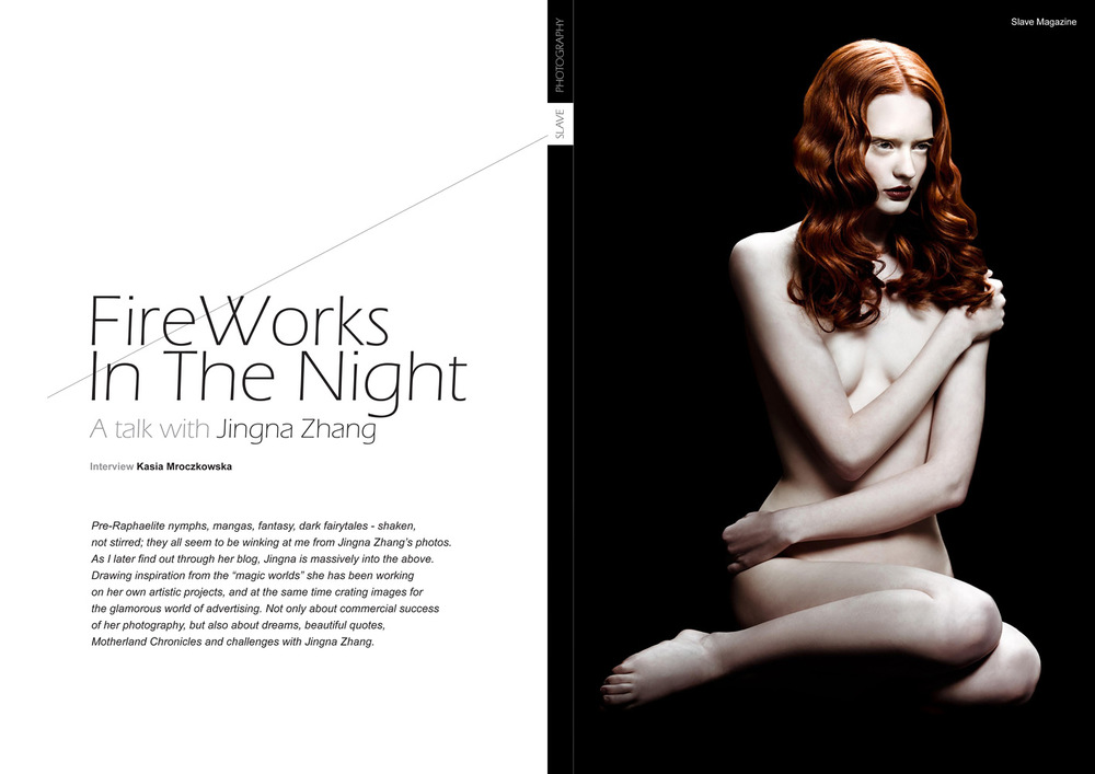 """Fireworks in the Night"",  Slave Mag , April 2013"