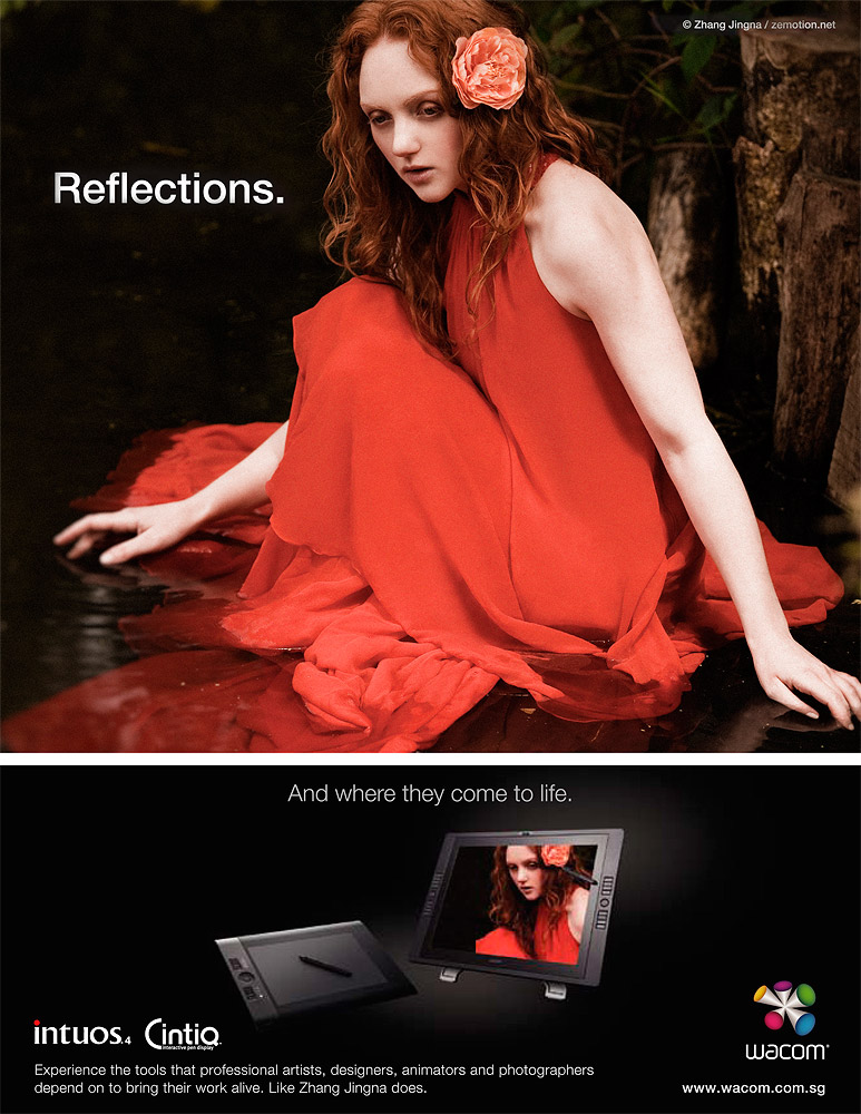 """Reflections"",  Wacom Intuos 4 & Cintiq , 2010"