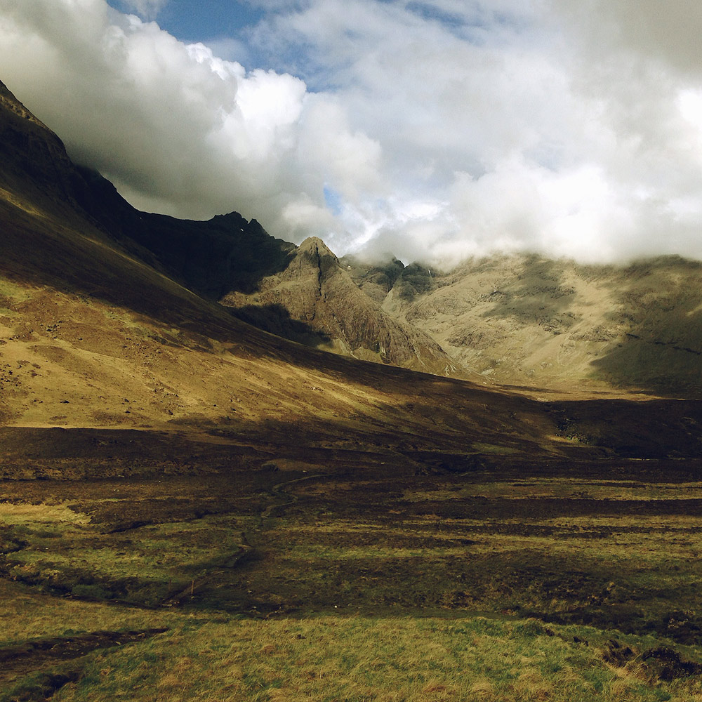 The Cuillin Mountains , Isle of Skye, Scotland, 2014