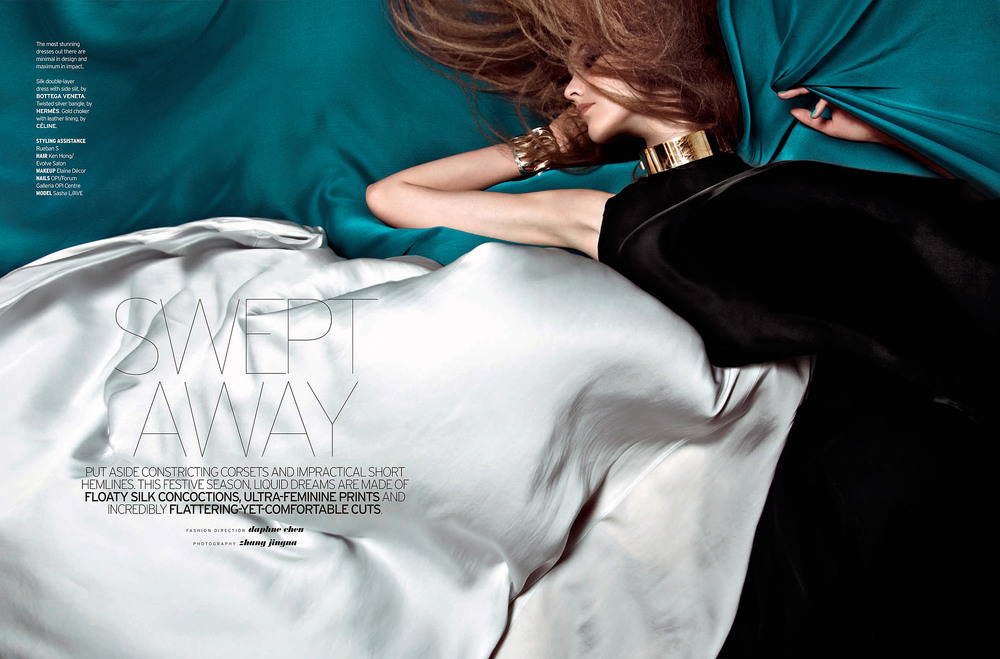 Swept Away  Elle Singapore, December 2010