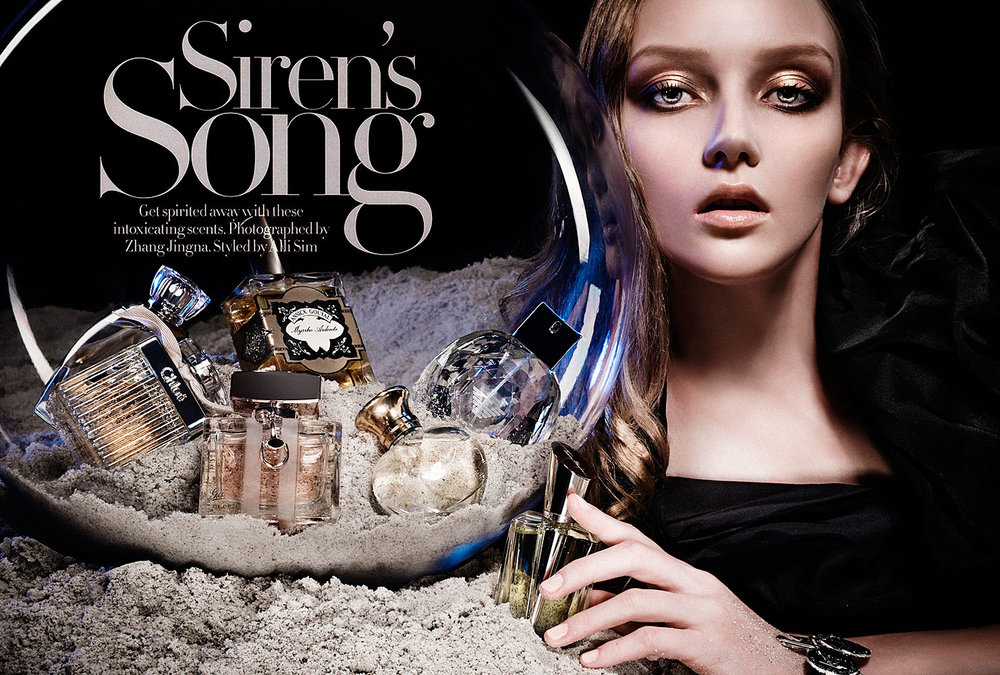 Siren's Song  Harper's Bazaar Singapore, Oct 2008