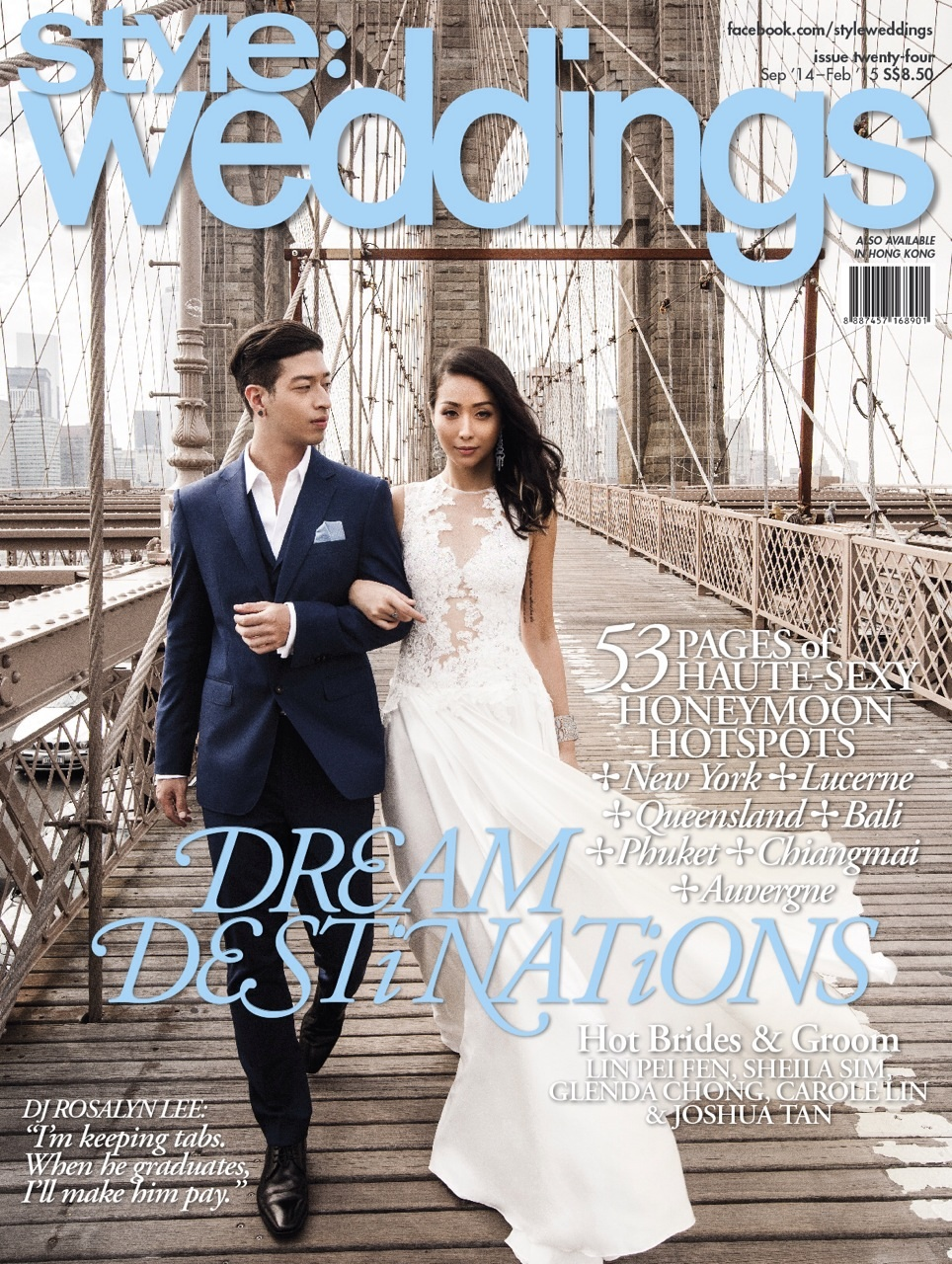 Rosalyn Lee and Justin Vanderstraaten  Style Weddings, September 2014