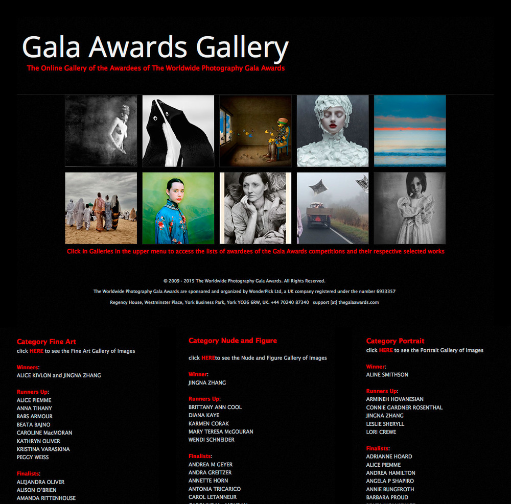 Winner in Fine Art, Portraits, Nude and Figure,  7th Julia Margaret Cameron Award for Women Photographers