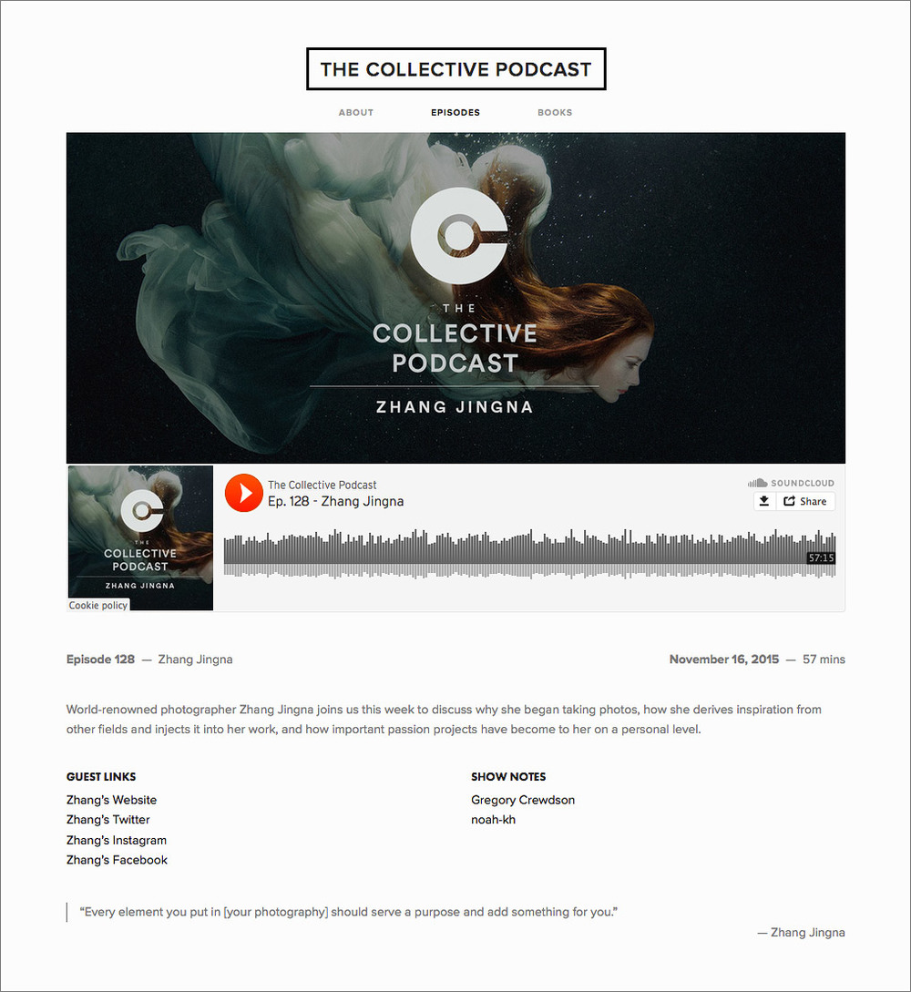 The Collective Podcast #128 - Zhang Jingna,  Nov 2015