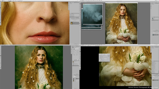 Full retouching process in Photoshop, Lesson 7