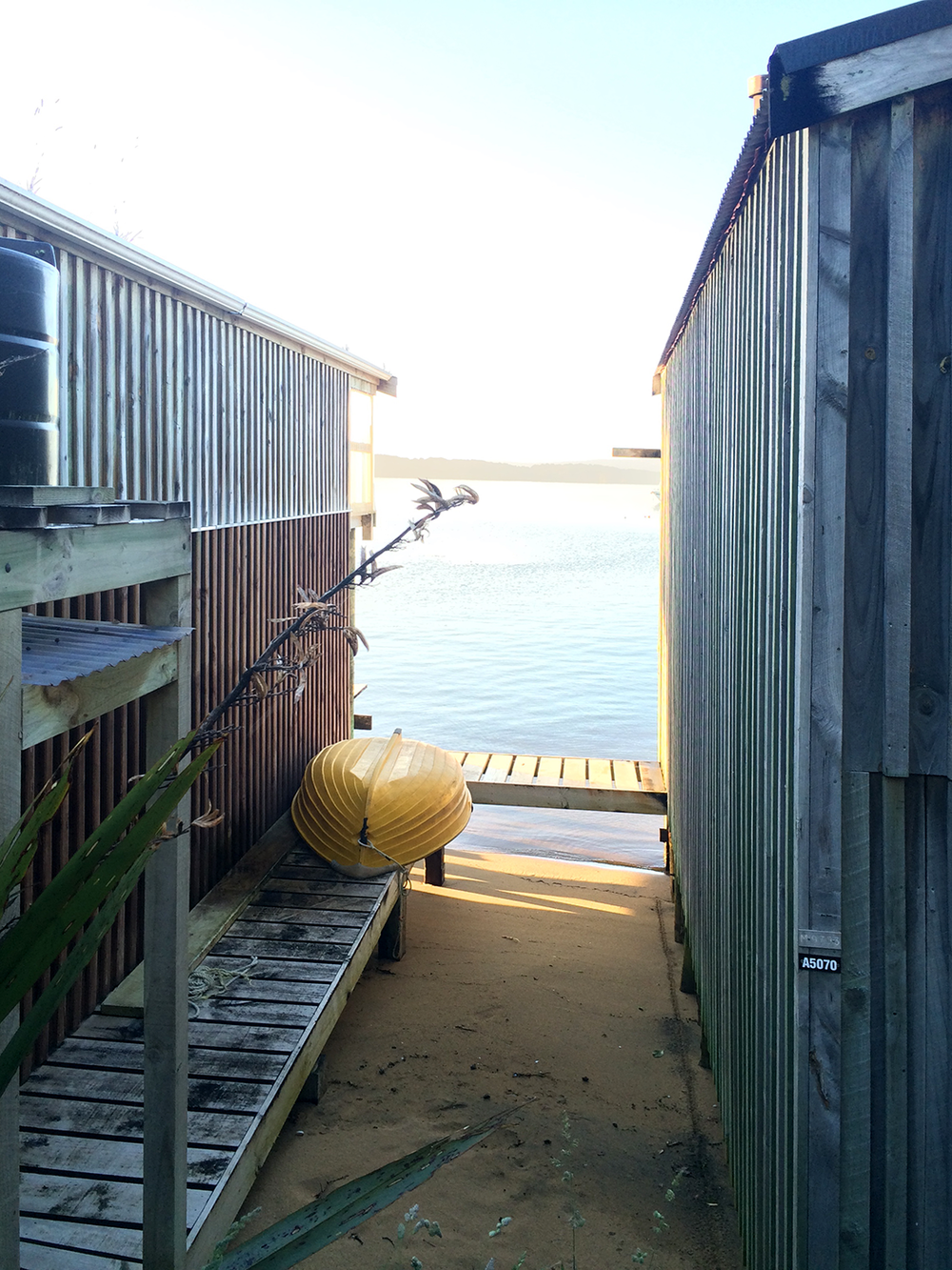 Boathouses - Stewart Island, New Zealand