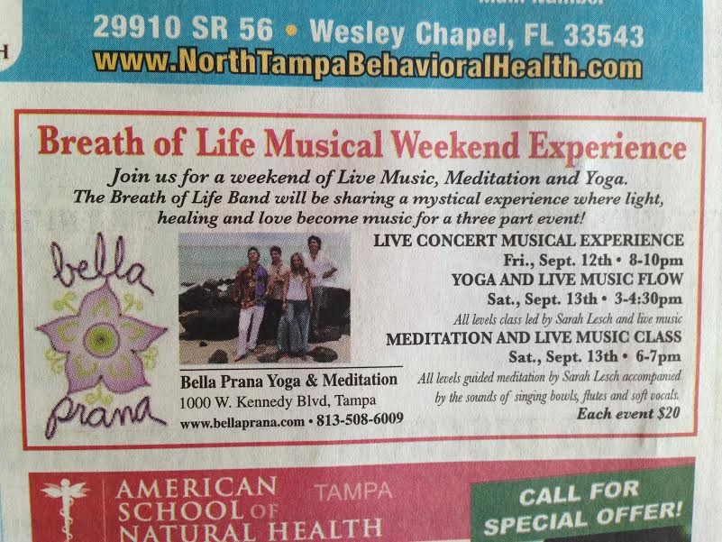 Breath of life musical weekend !!   Tampa Fl. Sept 12th and 13th