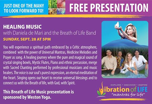 September 28th  5pm   Vibration of life Festival