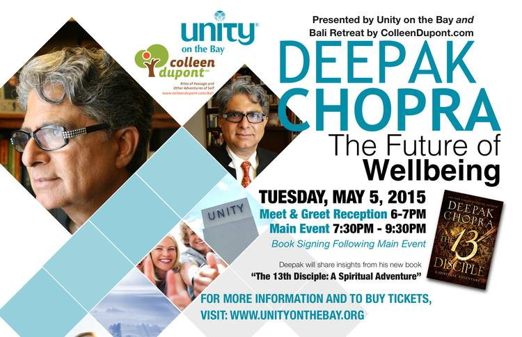DANIELA DE MARI AND BREATH OF LIFE WILL PERFORM AT THE VIP MEET AND GREET RECEPTION FOR DEEPAK CHOPRA NEW BOOK RELEASE