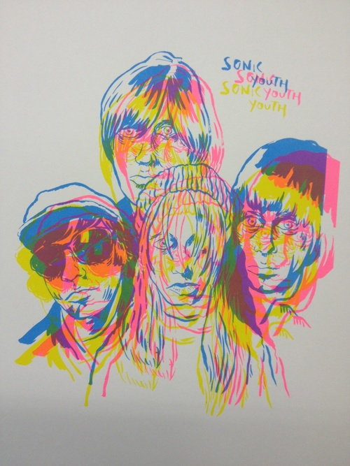 Sonic Youth three colour print  The Babak Ganjei Shop