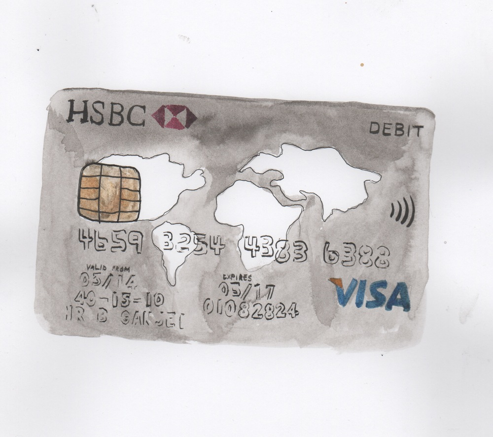 Painting of my cash card