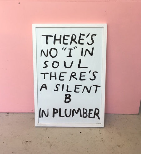 "THERE'S NO ""I""IN PLUMBER"