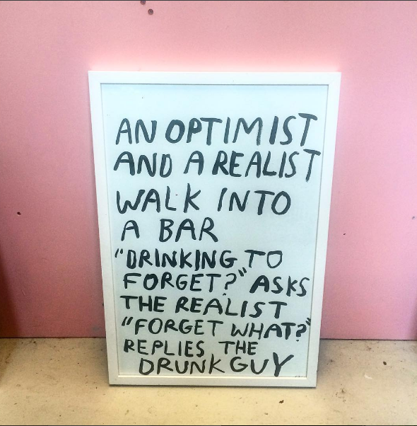 AN OPTIMIST AND A REALIST