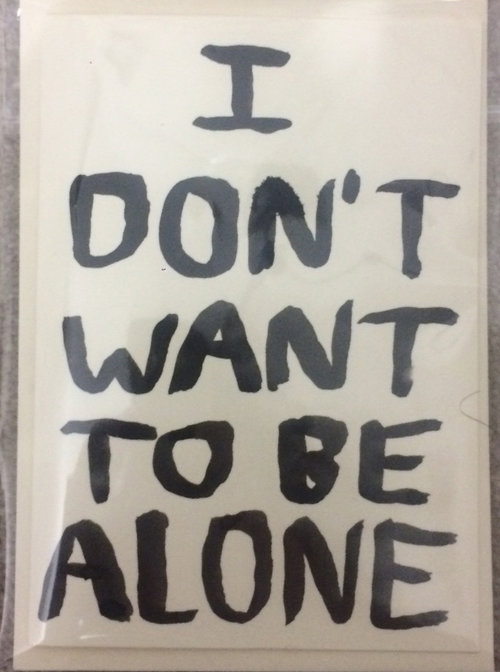 I Dont Want To Be Alone The Babak Ganjei Shop