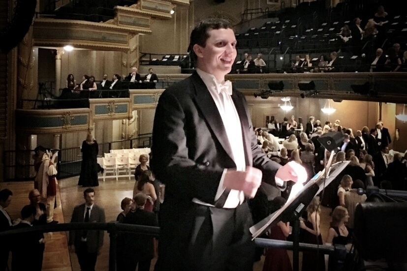 Robert Maxwell conducts a Mardi Gras Ball at the Orpheum Theater