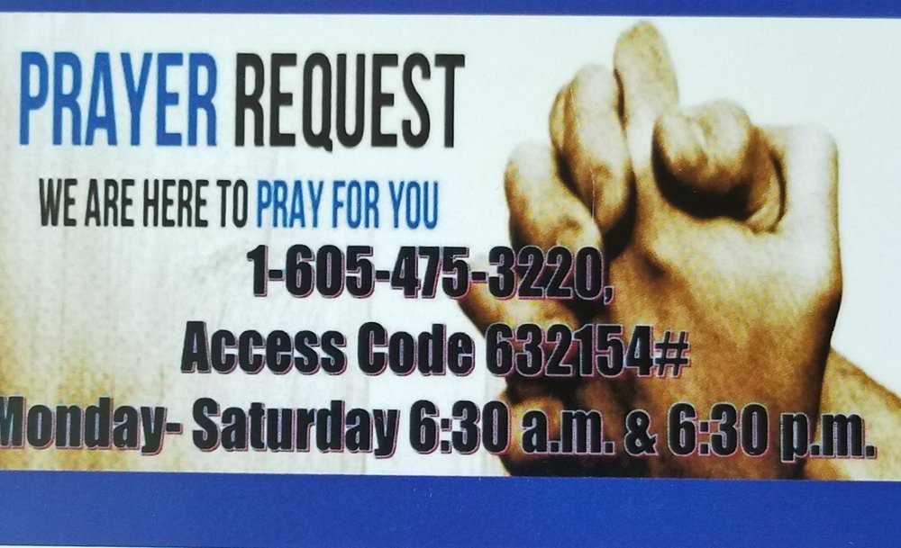 The effectual fervent prayer of a righteous man availeth much. James 5:16 - #1-605-475-3220 Access Code 632154#