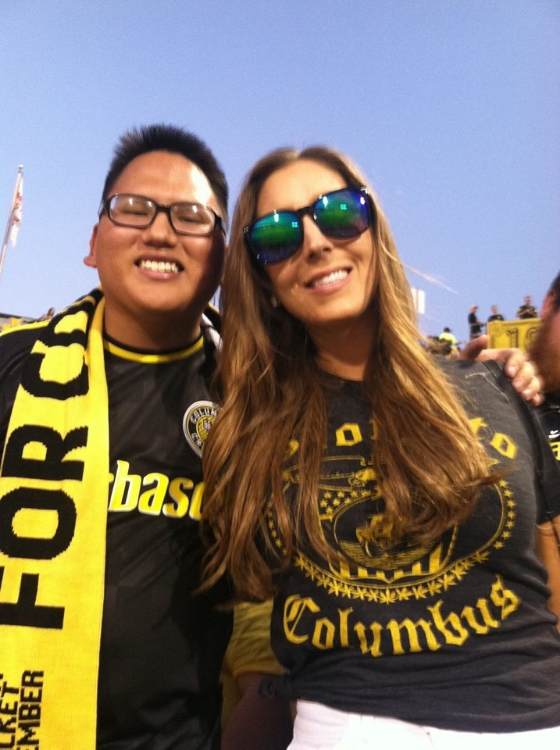 One of my favs... with Jonathan, a die hard Crew SC Supporter