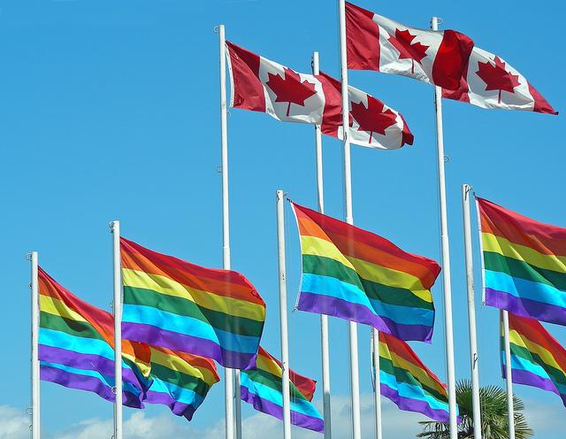 Canada rainbow flag