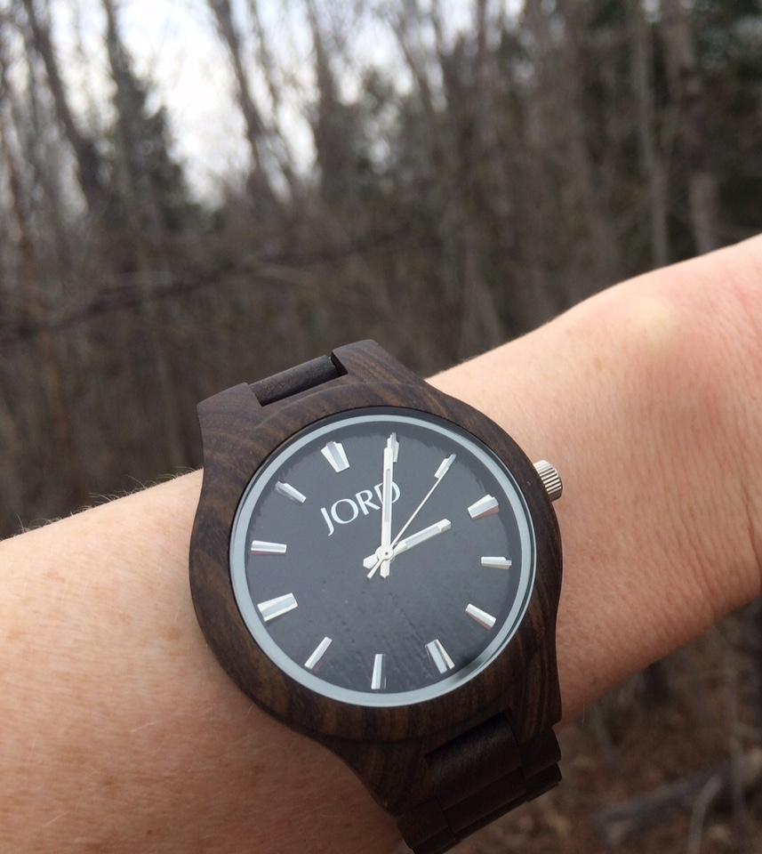 My JORD Wood Watch in the woods.