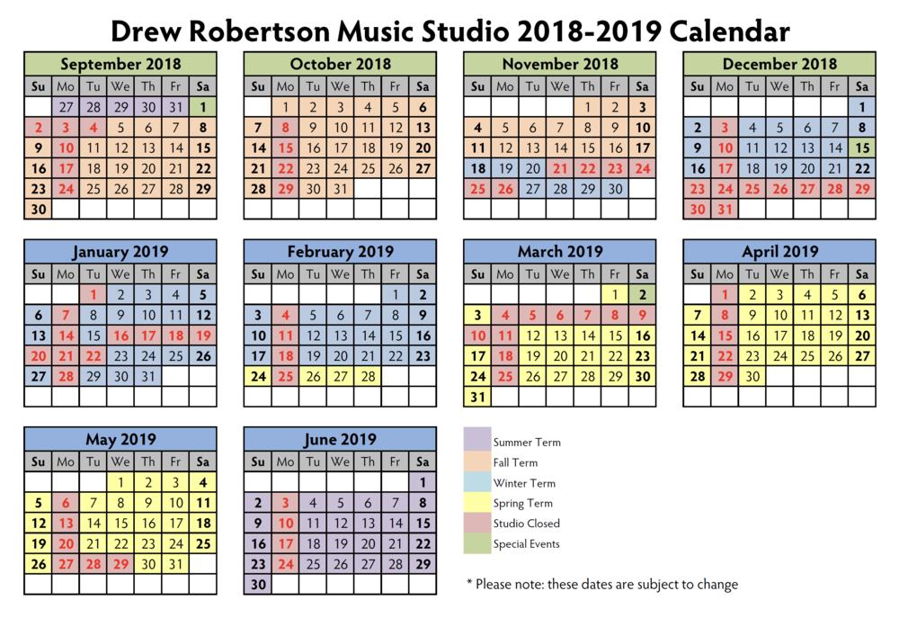 Drew Robertson Music Studio - 2018-2019 Calendar.PNG