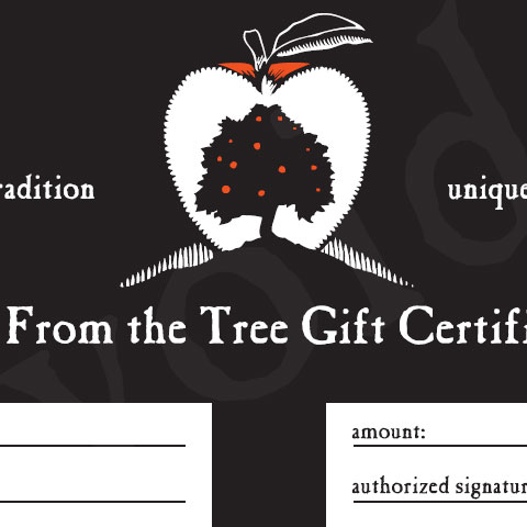 gift certificate far from the tree cider