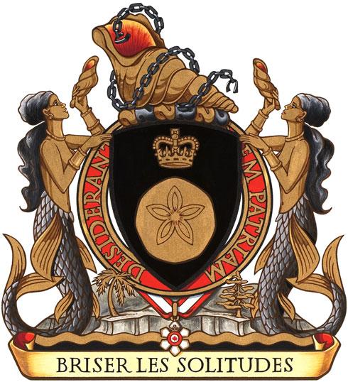 Armoiries de Son Excellence la très honorable Michaëlle Jean, gouverneure générale du Canada.