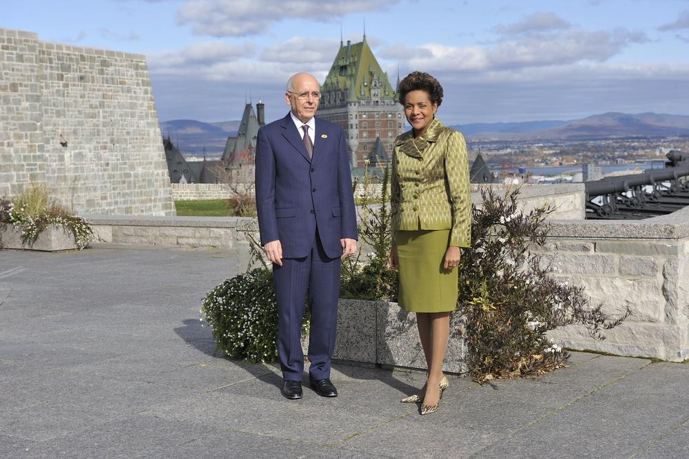 Citadelle, Sommet de la Francohphonie, Président de la Tunisie, S.E. Mohammed Ghannouchi;.JPG