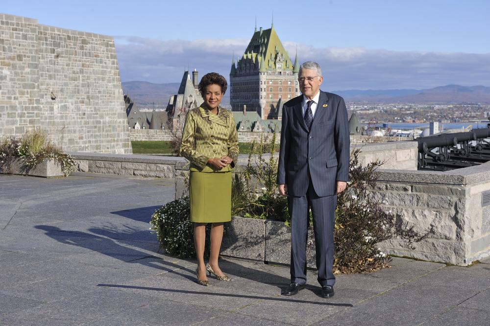 Citadelle, Sommet de la Francophonie, P-M du Maroc, S.E. Abbés El Fassis.JPG